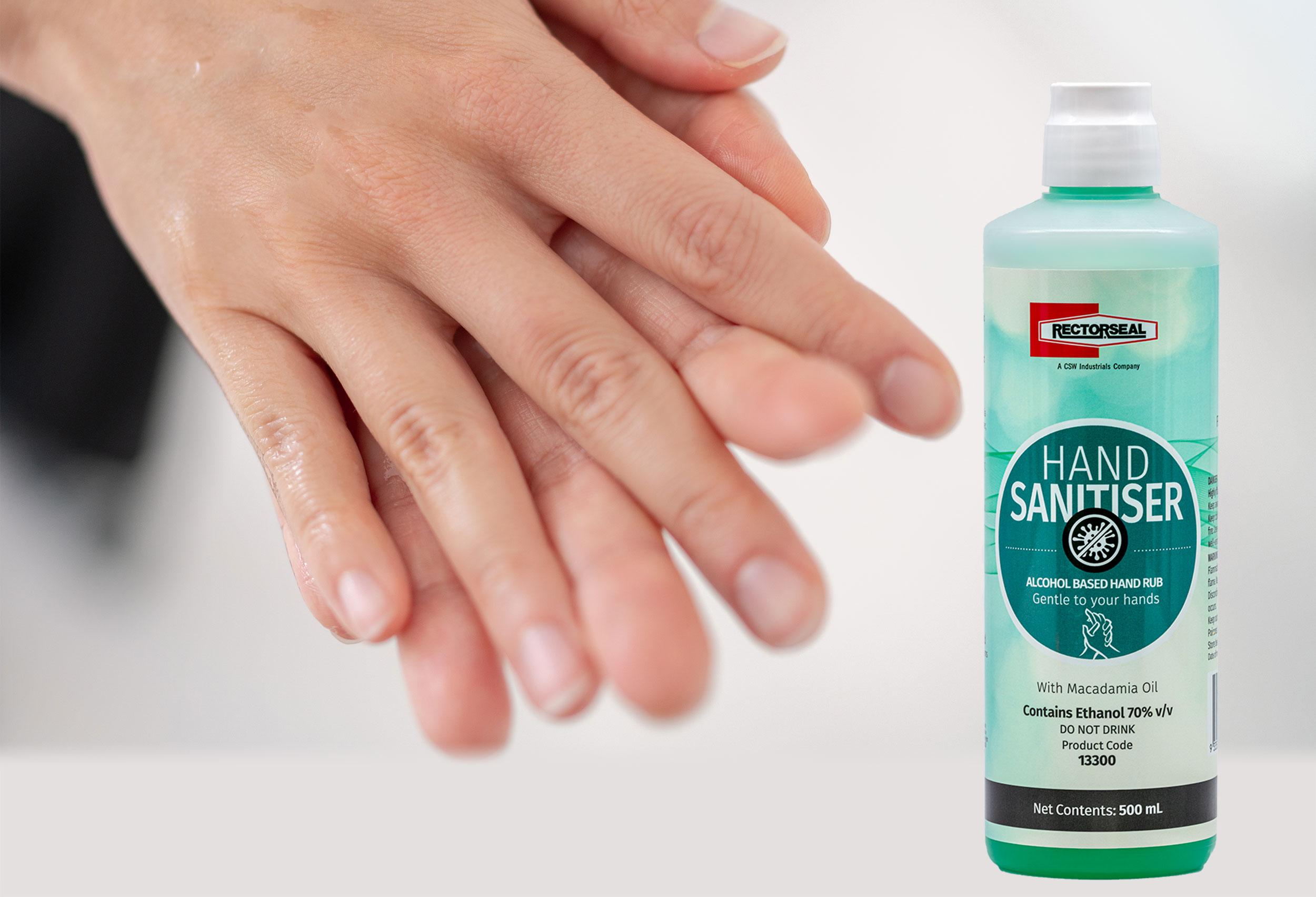 Australia Hand Waterless Sanitiser application image